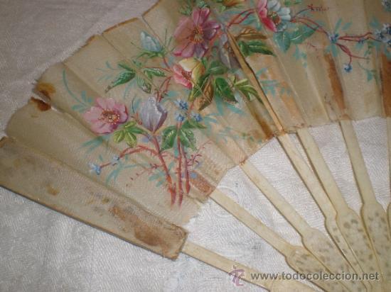 Antigüedades: ABANICO VARILLAJE DE HUESO - Foto 9 - 33290030