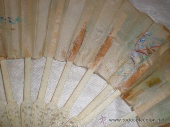 Antigüedades: ABANICO VARILLAJE DE HUESO - Foto 8 - 33290030