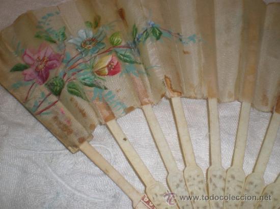 Antigüedades: ABANICO VARILLAJE DE HUESO - Foto 7 - 33290030