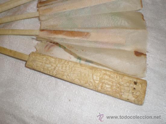 Antigüedades: ABANICO VARILLAJE DE HUESO - Foto 4 - 33290030