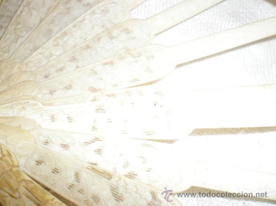 Antigüedades: ABANICO VARILLAJE DE HUESO - Foto 6 - 33290030