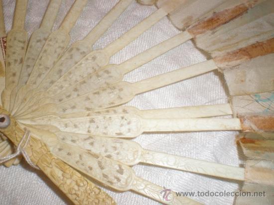 Antigüedades: ABANICO VARILLAJE DE HUESO - Foto 5 - 33290030
