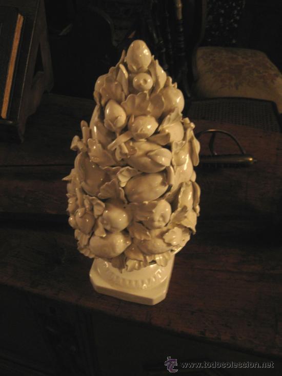 Antigüedades: Jarro con frutas de porcelana blanca imperio - Foto 2 - 27555103