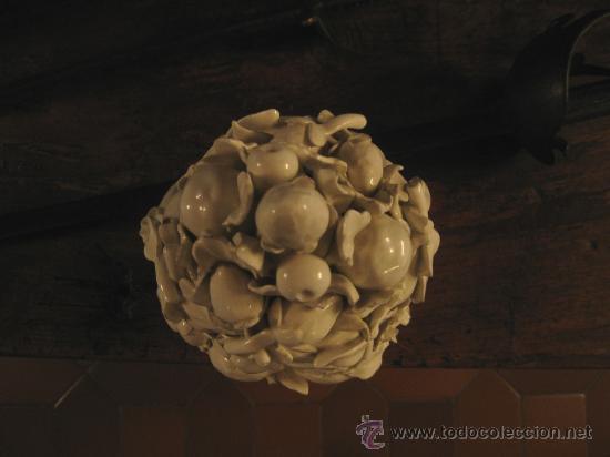 Antigüedades: Jarro con frutas de porcelana blanca imperio - Foto 3 - 27555103