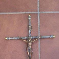 Antigüedades: -ANTIGUA CRUZ CON JESUCRISTO(INRI)-MEDIDAS:50X31 CTM.. Lote 33321543