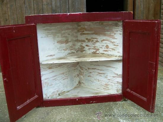 Armario esquinero cocina casa de pueblo madera comprar - Armarios de cocina antiguos ...