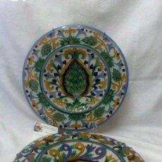 Antigüedades: SEBASTIAN AGUADO.- TOLEDO,- PAREJA DE PLATOS.. Lote 33352552