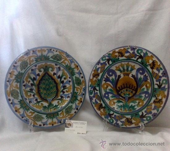 Antigüedades: SEBASTIAN AGUADO.- TOLEDO,- PAREJA DE PLATOS. - Foto 23 - 33352552