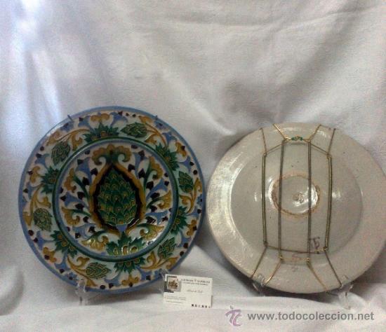 Antigüedades: SEBASTIAN AGUADO.- TOLEDO,- PAREJA DE PLATOS. - Foto 3 - 33352552