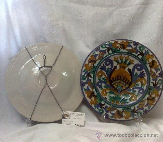 Antigüedades: SEBASTIAN AGUADO.- TOLEDO,- PAREJA DE PLATOS. - Foto 4 - 33352552