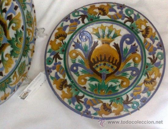 Antigüedades: SEBASTIAN AGUADO.- TOLEDO,- PAREJA DE PLATOS. - Foto 19 - 33352552