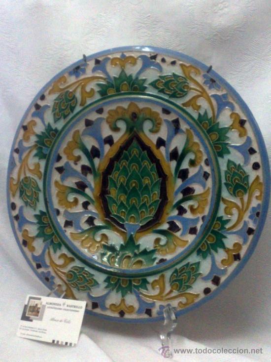 Antigüedades: SEBASTIAN AGUADO.- TOLEDO,- PAREJA DE PLATOS. - Foto 21 - 33352552