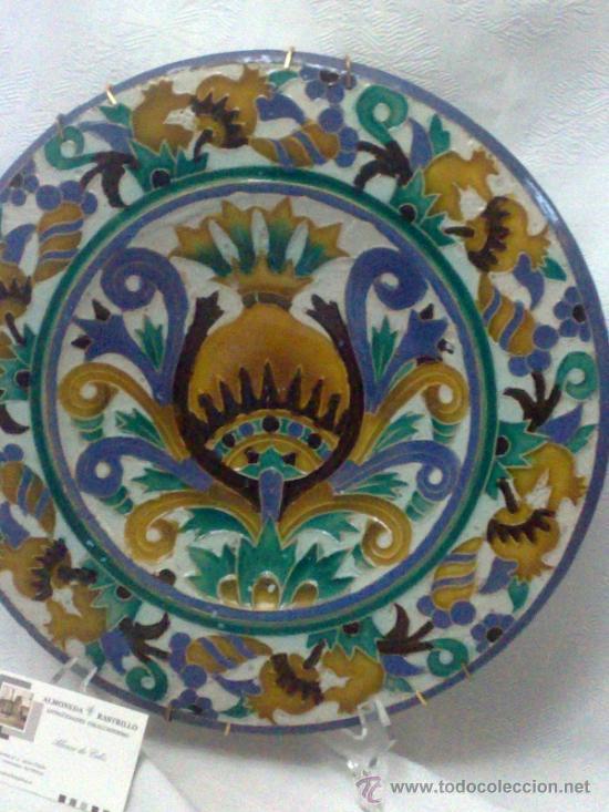 Antigüedades: SEBASTIAN AGUADO.- TOLEDO,- PAREJA DE PLATOS. - Foto 5 - 33352552