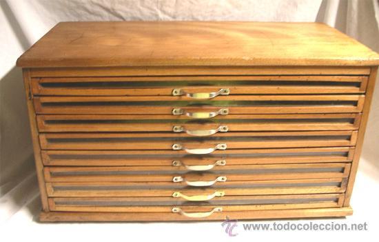 Mueble merceria de hilos 8 cajones hilaturas comprar - Cajones de madera antiguos ...
