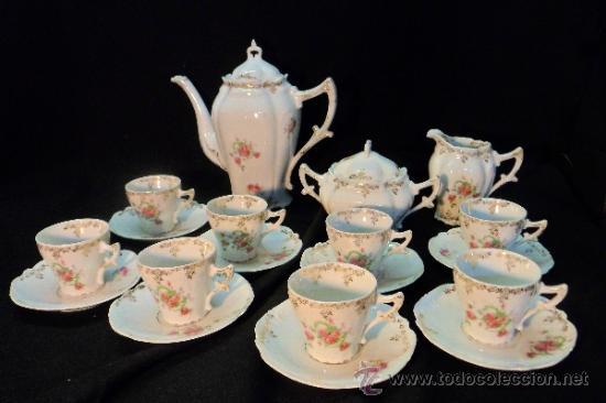 Completo juego de t en porcelana de flores ha comprar for Porcelana en ingles