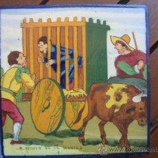 Antigüedades: AZULEJO DEL QUIJOTE. Lote 33390113