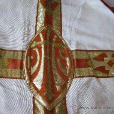 Antiguidades: ANTIGUA PIEZA RELIGIOSA CON POMPONES METALICOS. Lote 27410071
