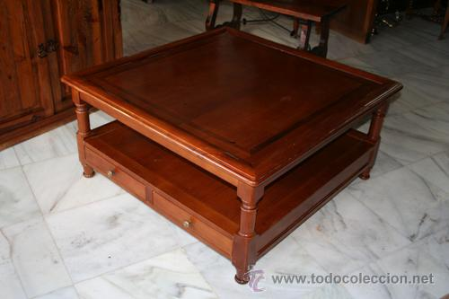 MESA DE CENTRO,CEREZO REF.5265 (Antigüedades - Muebles Antiguos - Mesas Antiguas)