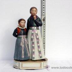 Antigüedades: FIGURA PORCELA MUJER CON NIÑA DE ROYAL COPENHAGUEN, ESPECTACULAR. Lote 33504643