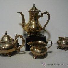 Antigüedades: JUEGO DE CAFÉ PLATEADO CON MARCA INCISA E.P.N.S. Lote 33455727