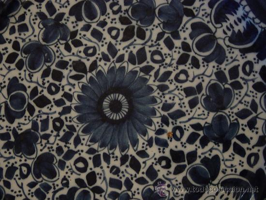Antigüedades: Prato decoração floral em faiança de Delft, Sec XVIII - Foto 2 - 33462362