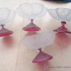 Antigüedades: CUATRO COPAS DE LOS AÑOS 40 EN PERFECTO ESTADO MUY BONITAS. Lote 33463717