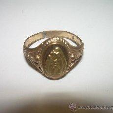 Antigüedades: ANTIGUO ANILLO CHAPADO EN ORO.....VIRGEN DE MONTSERRAT.....SIGLO XIX.. Lote 33464056