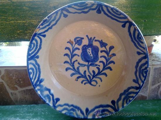 ANTIGUA FUENTE DE FAJALAUZA. (Antigüedades - Porcelanas y Cerámicas - Fajalauza)