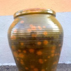 Antigüedades: ANTIGUA TINAJA U ORZA VIDRIADA , DE ACEITE.. Lote 33474500