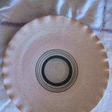 Antigüedades: PLATO PLANO DE COLECCION, EN CERAMICA VIDRIADA, DE EL PUENTE DEL ARZOBISPO ( TO ). Lote 33488668