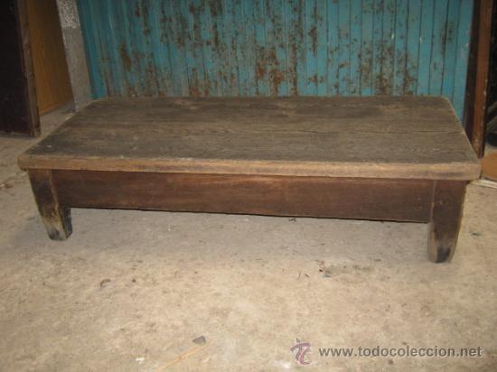 Mesa muy baja r stica necesita limpieza comprar mesas for Mesas antiguas rusticas