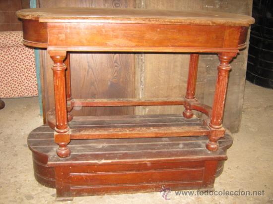 Consola de entrada en madera para restaurar comprar for Restaurar muebles de madera viejos