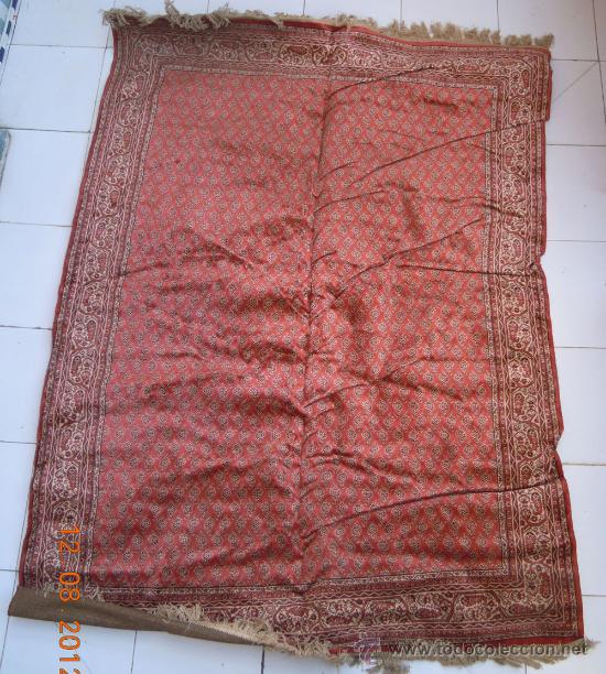 Antigüedades: Alfombra rectangular de unos 195 cm. x 135 cm - Foto 2 - 33490404