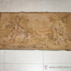 Antigüedades: TAPIZ DE ESTILO GOBELINO. 90 X 50 CM.. Lote 33490867