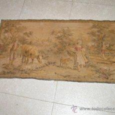 Antigüedades: TAPIZ DE ESTILO GOBELINO. 90 X 50 CM.. Lote 33490868