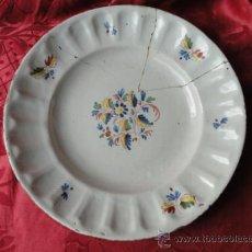 Antigüedades: PRECIOSA Y ANTIGUA PLATA DE CERÁMICA DE ALCORA.. Lote 33493815