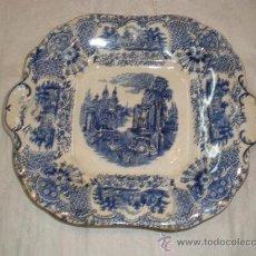 Antigüedades: BANDEJA CUADRADA PICKMAN LA CARTUJA - VISTAS -. Lote 33499761