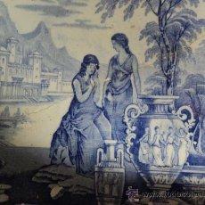 Antigüedades: PALANGANA INGLESA. SIGLO XIX. ETRUSCAN.. Lote 33504915