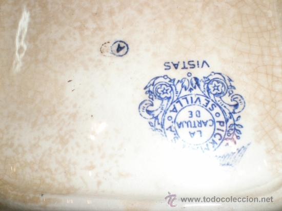 Antigüedades: Bandeja cuadrada Pickman La Cartuja - Vistas - - Foto 14 - 33499761