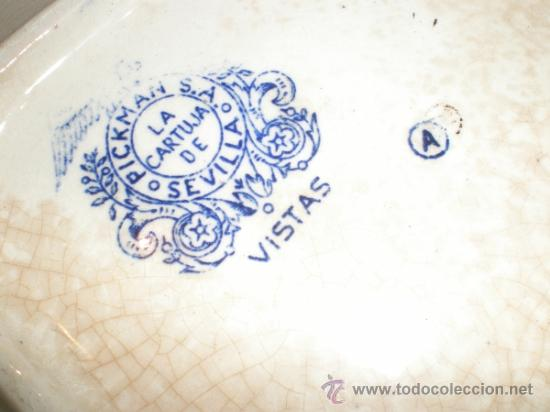 Antigüedades: Bandeja cuadrada Pickman La Cartuja - Vistas - - Foto 13 - 33499761