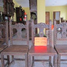 Antigüedades: SILLA DE ROBLE. Lote 33515914