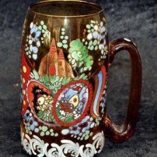Antigüedades: GENÍS CIRERA CASANOVA (BADALONA 1890 - BARCELONA 1970) BONITA JARRA PINTADA Y FIRMADA. AÑOS 40-50. Lote 33519251