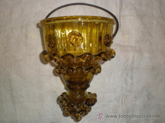 CENTRO PARA COLGAR DE CRISTAL DE GUARDIOLA (Antigüedades - Cristal y Vidrio - Mallorquín)