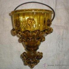 Antigüedades: CENTRO PARA COLGAR DE CRISTAL DE GUARDIOLA. Lote 33528702