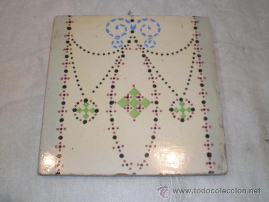 AZULEJO MODERNISTA (Antigüedades - Porcelanas y Cerámicas - Azulejos)