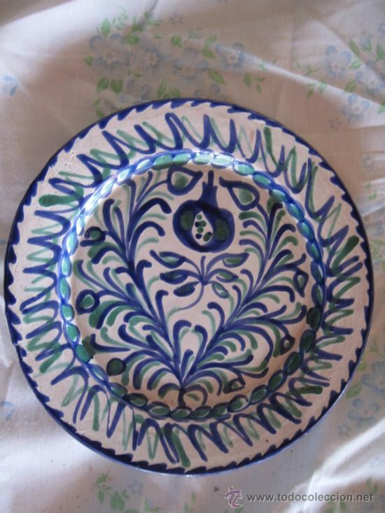 PLATO EN CERAMICA VIDRIADA DE FAJALAUZA - (Antigüedades - Porcelanas y Cerámicas - Fajalauza)