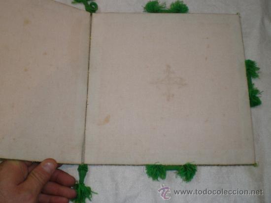 Antigüedades: centro de tela verde bordado en oro - Foto 5 - 33528983