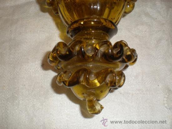 Antigüedades: centro para colgar de cristal de guardiola - Foto 2 - 33528702