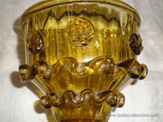 Antigüedades: centro para colgar de cristal de guardiola - Foto 10 - 33528702