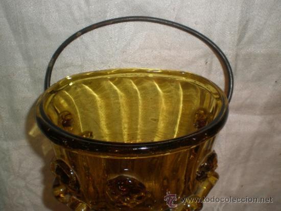 Antigüedades: centro para colgar de cristal de guardiola - Foto 9 - 33528702